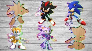 Puzzles for Kids - Wrong Sonic Boom Slots Sonic Amy Rose Tails Shadow