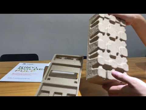 Disposable Recycled Paper Pulp Molded Electronic Packaging
