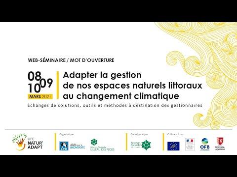 """Web séminaire 2021 """"Adapter la gestion de nos espaces naturels littoraux au changement climatique"""""""