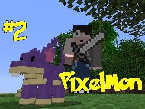 Minecraft: Pixelmon - Episode 2 - Updates, Balls and Food! (Pokemon Mod)