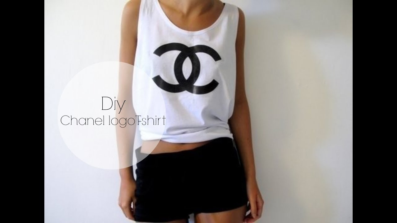 Diy Chanel Logo T Shirt Youtube