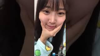 프로듀스48에 출연했던 시로마 미루(白間美瑠)의 2018년 11월 9일자 인...