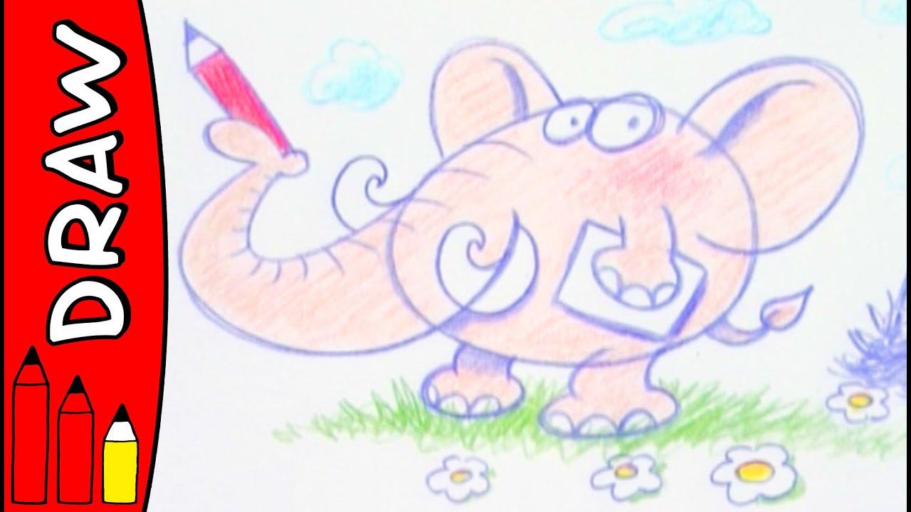 How To Draw An Elephant | Art Ideas For Kids | Øistein Kristiansen