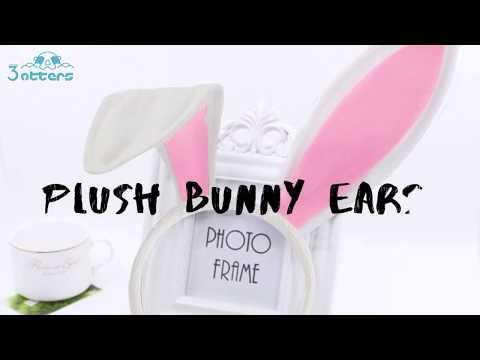 Plush Bunny Ears, Cute Bunny Headband Easter Day Party Decoration