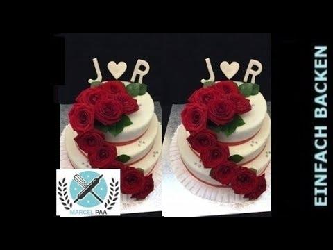 Hochzeitstorte Mit Echten Rosen I Klassische Hochzeitstorte Mit