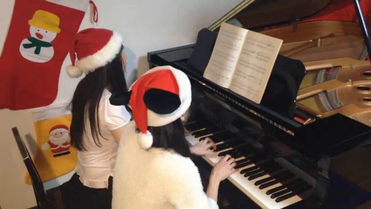 ディズニー メドレー ピアノで弾いてみた 【連弾】 - YouTube