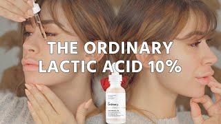 SKINCARE THE ORDINARY LACTIC ACID 10 HA SERUM REVIEW | light asmr