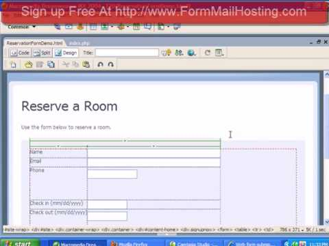 How To Make A Reservation Form You Can Put On Your Website - YouTube