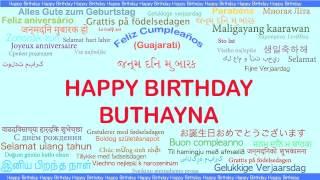 Buthayna   Languages Idiomas - Happy Birthday