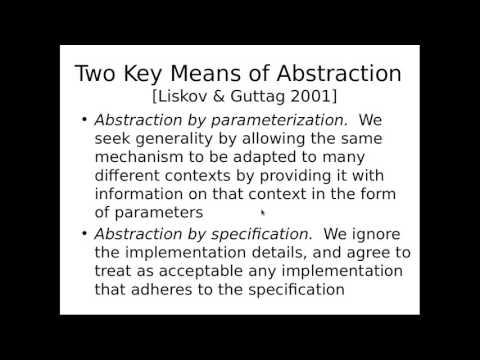 Software Contracts and Abstraction by Specification