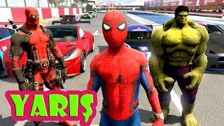 Tehlikeli Yarış Örümcek Adam ve Süper Kahramanlar Deadpool ile Hulk Arasında Başlıyor (Çizgi Film)