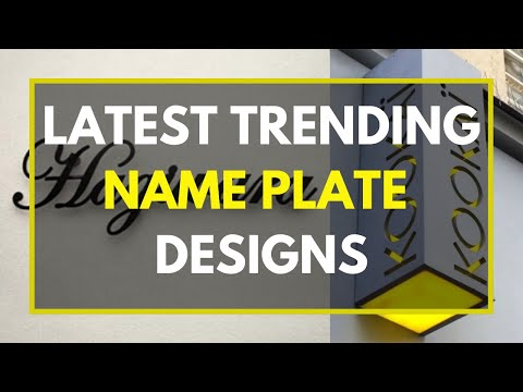 30 Nameplate design ideas for your home | Name board for door entrance |