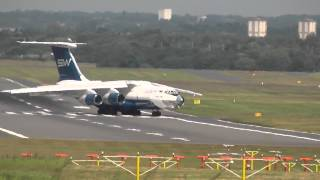 IL-76 landing and taxi at Birmingham Airport