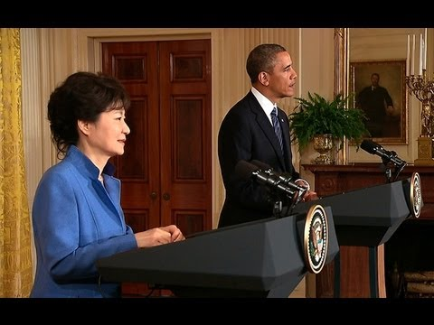 President Obama Holds a Press Conference with President Park of South Korea - YouTube