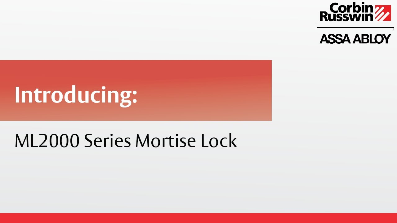 Corbin Russwin Ml2000 Series Mortise Lock Youtube