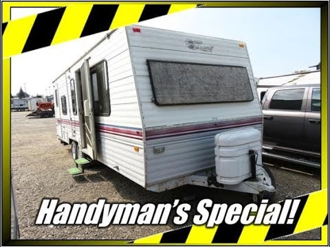 haylettrv 1991 fleetwood terry resort 26b handyman s hunting shack rh youtube com 1990 Nomad Travel Trailer Travel Trailer Interiors