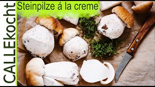 Steinpilze zubereiten - á la creme unglaublich lecker