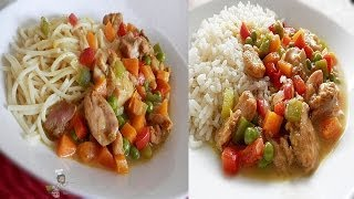 Coconut Curry Sauce(Gravy) - with chicken & vegetables