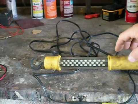 Harbor Freight  Portable LED work lite this is a must have about $15.