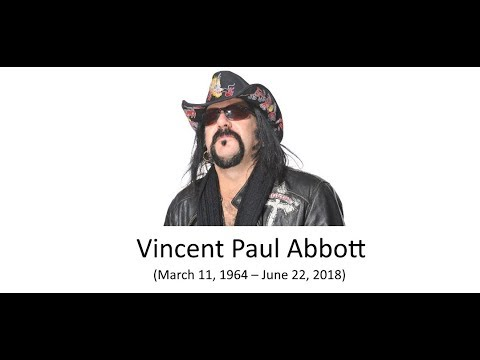 Rest in Peace Vinnie Paul.   (March 11, 1964 – June 22, 2018)