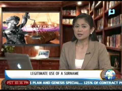[NewsLife] Rule of Law: Legitimate use of surname