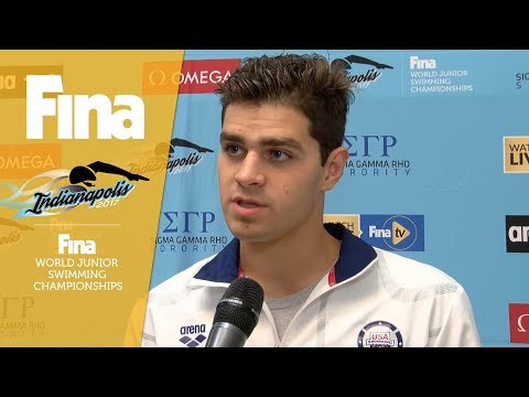 Michael Andrew interview at FINA World Junior Swimming Championships