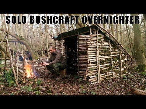Winter Overnighter in Heated Bushcraft shelter