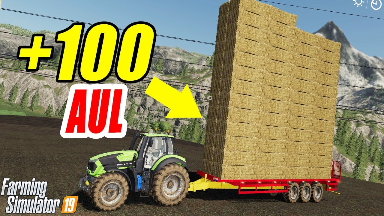 Farming Simulator 19: +100 Bale Auto Loader Trailer!! Fantastic Baler and  Trailer!!
