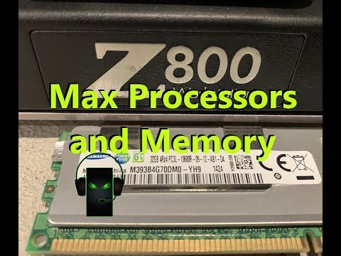 HP Z800 Max Processors and Memory (384GB of Memory Installed!!!)