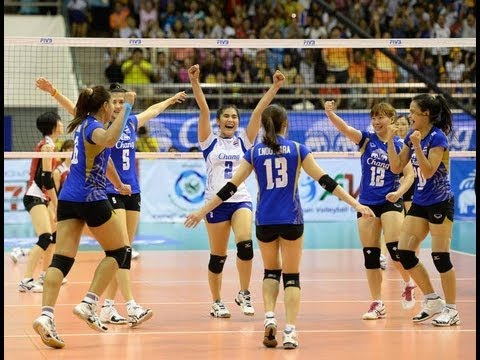 Thailand VS Chinese Taipei AVC Volleyball 2013 Quarterfinal Full Match