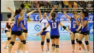 Thailand VS Chinese Taipei AVC Volleyball 2013 Quarterfinal Full Match