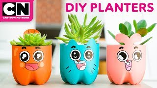 The Amazing World of Gumball | DIY Soda Bottle Planters | Cartoon Network | LET'S BUILD