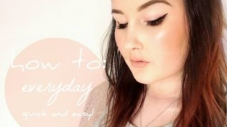 Everyday Go To Makeup Look - Glowing Skin, Winged Liner  | Katherine Lynnette Beauty Thumbnail