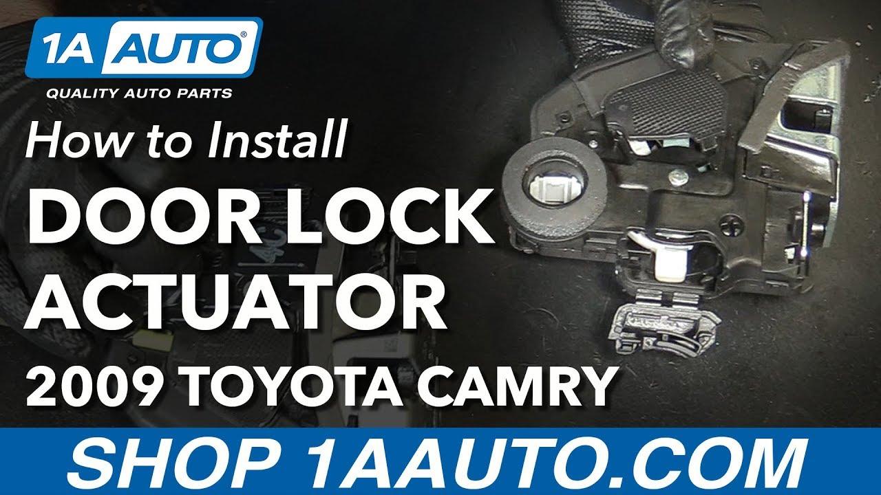 How To Replace Rear Door Lock Actuator 07 13 Toyota Camry