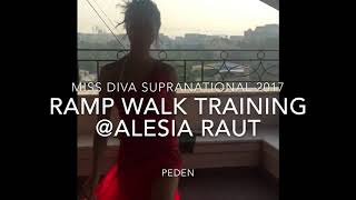 Ramp Walk Training With Super Model Alesia Raut