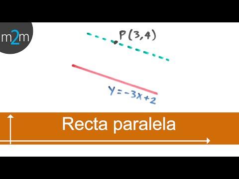Ecuación de recta que pasa por un punto y es paralela a otra