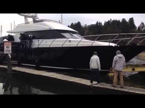 Coastal Craft yacht launch