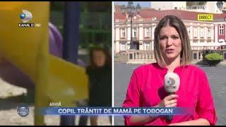 Stirile Kanal D (06.09.2021) - Copil trantit de mama pe topogan! | Editie de pranz
