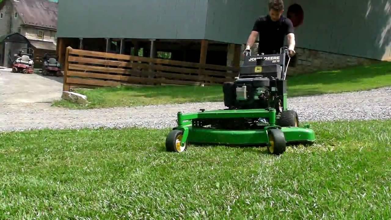 John Deere GS75 Commercial Zero Turn Lawn Tractor Mower FOR SALE - YouTube