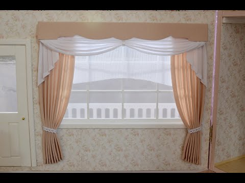 How to make miniature curtains