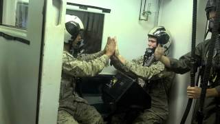hypoxia training in the low pressure chamber at aircrew school