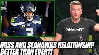 "Pat McAfee Reacts To Report Russell Wilson And The Seahawks Are ""Better Than Ever"""