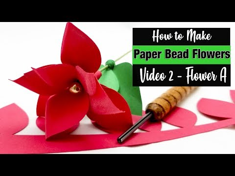 Paper Bead Flowers - How to Roll Flower A
