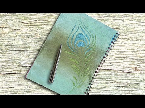 Glitter Paste & 3D Stamp Paint Art Journal Page