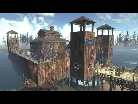 Fallout 4 Settlement Building at Far Harbor - 'Fort Dalton' - No Mods (+ Base Attack!)