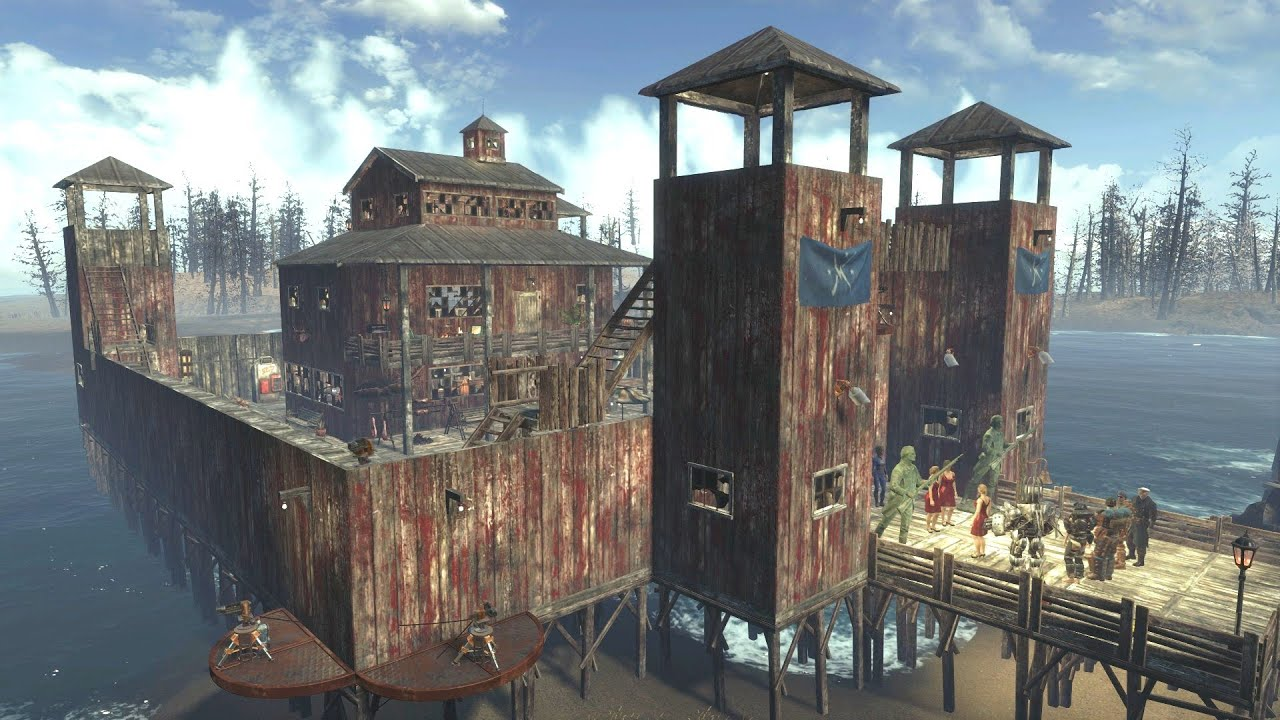 Fallout 4 settlement building far harbor fort dalton for Best house design fallout 4
