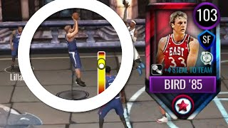 103 COMEBACK LARRY BIRD GAMEPLAY IN NBA LIVE MOBILE 20!!!