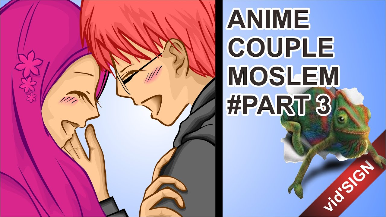 How to design anime couple muslim part 3