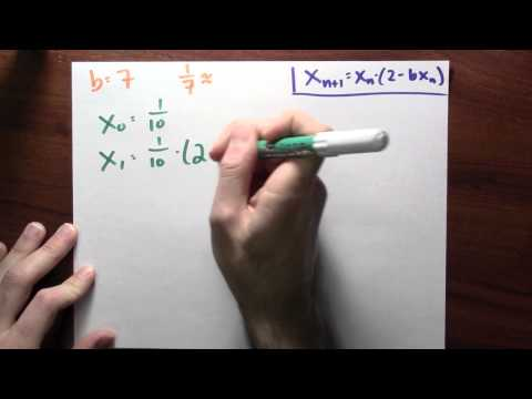 How can Newton's method help me to divide quickly? - Week 9 - Lecture 8 - Mooculus