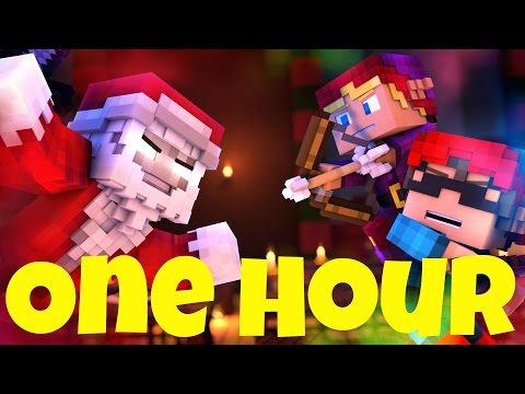"""One Hour ♫""""Santa Claus is Running This Town""""♫ A Minecraft Parody"""